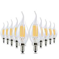 4W Becuri LED Lumânare CA35 4 COB 300-400 lm Alb Cald Intensitate Luminoasă Reglabilă Decorativ AC 110 - 130 V 10 bc