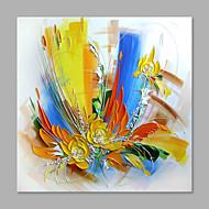 Ručno oslikana Cvjetni / Botanički Vertikalno,Sažetak Modern/Comtemporary Jedna ploha Platno Hang oslikana uljanim bojama For Početna