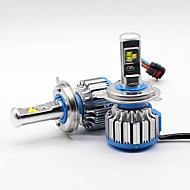 フィリップス80w 9600lm h4 9003hb2ヘッドライトキット電球ハイ/ロービーム6000k canbus