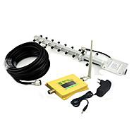 Écran intelligent dcs 1800mhz 4g amplificateur de signal dcs980 répéteur de signal avec antenne whip antenne yagi jaune