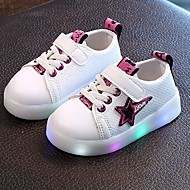 Jongens Sneakers Oplichtende schoenen TPU Kunstleer Zomer Herfst Causaal LED Lage hak Paars Geel Groen Onder 2,5cm