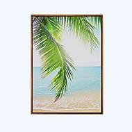 Maisema Kehystetty öljymaalaus Wall Art,Puu materiaali Frame For Kodinsisustus Frame Art Living Room Ruokailuhuone 1 Kappale