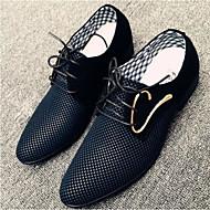 Masculino Sapatos Couro Ecológico Verão Conforto Oxfords Para Casual Branco Preto