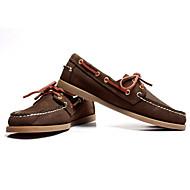 남성 구두 가죽 봄 가을 컴포트 보트 신발 제품 캐쥬얼 어두운 무늬