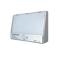 Luzes solares lâmpada de parede integrada 48 luzes de sensor de corpo LED de alumínio