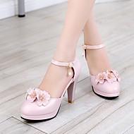 Ženske Cipele PU Proljeće Udobne cipele Cipele na petu Stiletto potpetica Okrugli Toe S Za Kauzalni Obala Plava Pink