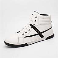 Herren Sneaker Komfort Leuchtende Sohlen PU Frühling Sommer Herbst Winter Normal Walking Schnalle Flacher Absatz Weiß Schwarz Khaki Flach