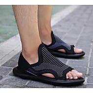 Heren Sandalen Comfortabel Tule Zomer Causaal Wit Zwart Onder 2,5cm