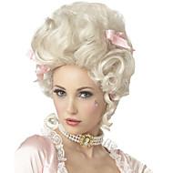 Συνθετικές Περούκες Χωρίς κάλυμμα Μεσαίο Σγουρά Άσπρο Περούκα άνιμε φορεσιά περούκες