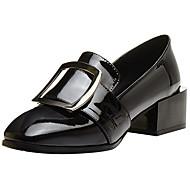 Feminino Mocassins e Slip-Ons Conforto Plataforma Básica Sapatos formais Pele Real Pele Outono Inverno Social Festas & Noite Presilha