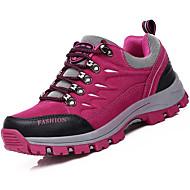 Feminino Sapatos Camurça Outono Inverno Conforto Tênis Aventura Salto Baixo Cadarço Para Atlético Roxo Rosa claro