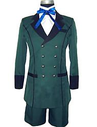 Ihlette Black Butler Ciel Phantomhive Anime Szerepjáték jelmezek Cosplay ruhák Egyszínű Hosszú ujj Selyem nyaksál Kabát Ing Rövidnadrágok