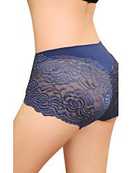 Women's Sexy Plus Size High Rise Lace Panties(Waist:60-80cm,Hip:100cm)