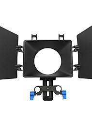 fotga® dslr film movie gebruik matte box zonnescherm voor 15mm rail staaf follow aandacht rig