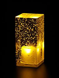 コーヒーショップ装飾テーブルランプテーブルランプ発光結晶は、バーの光l6.5の*のw6.5 *のh13.5cmの0.5ワットを率い泡