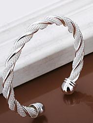 Twisted shape silver bracelet Christmas Gifts