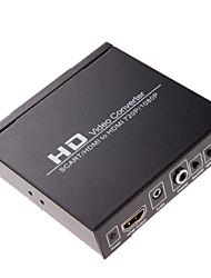 HD video konverter HDMI ili SCART HDMI izlaz 720p 1080p audio koaksijalni izlaz pajdaš tipku / NTSC