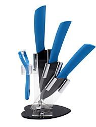 345 - tommers farge svart keramisk knivblad håndtak 5 sett med kjøkken drakter brukte verktøy