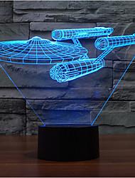 oorlogsschip aanraking dimmen 3D LED 's nachts licht 7colorful decoratie sfeer lamp nieuwigheid verlichting kerstverlichting