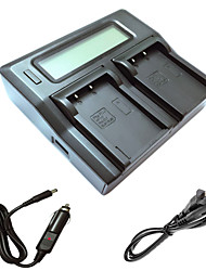 ismartdigi bls5 lcd carregador dupla com cabo de carga de carro para Olympus E-PL2 PL3 PL5 PL6 PL7 EP3 EM10 e-PM1 PM2 PM3 bls5 BLS1