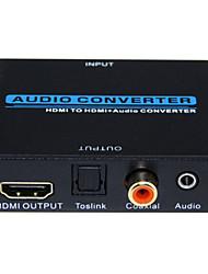 audio konverter HDMI na HDMI audio konverter 1080p 3D HDMI ulaz na HDMI TOSLINK koaksijalni audio izlaz metala