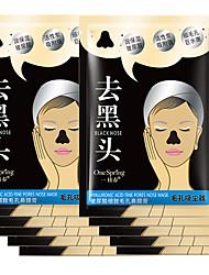 10pcs hyaluronsyre aktivert karbon nese blackhead strimmel fjerner maske løsner svart hode suge maske pore rensemiddel