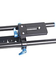 yelangu universele hoogte verstelbare camera bodemplaat met quick release en 15mm staven voor camereas's en camcorders