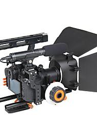 yelangu népszerű DSLR ketrec váll tartó telep kit c500 tartalmaznak követni fókusz matt box támogatás univerzális kamerák