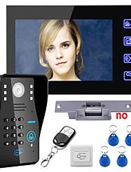 dotykové klávesy 7 lcd RFID heslo videotelefonních intercom systém kit elektrický úder zablokovat ovládání bezdrátového dálkového