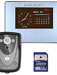 mountainone 7 dvr barevný dotykový displej Video dveřní telefon s pir záznam komunikačním systémem s kamerovým ir 8g SD kartu