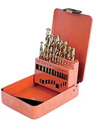 O escudo de aço é feito de 19 peças de conjuntos de perfuração de titânio de aço de alta velocidade titanium / 1 conjuntos