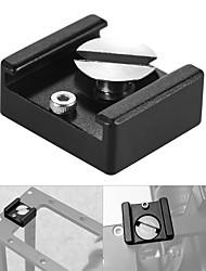 andoer koud schoen mount adapter basisbeugel met 1/4 montage schroef voor dslr camera kooi flash led lichtmicrofoon (pakket van 5)