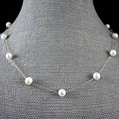 Perlehalskjede Perle Enlig Snor Perle kostyme smykker Smykker Til