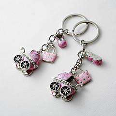 Baby Shower Party Favors & Gifts-4Stuk/Set Sleutelhangerbedankjes Chroom Gepersonaliseerd Roze