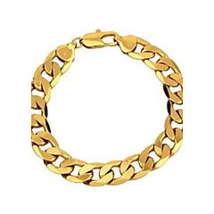 Муж. Браслеты-цепочки и звенья Классика бижутерия Золотистый Медь Позолота Бижутерия Бижутерия Назначение Для вечеринок Повседневные