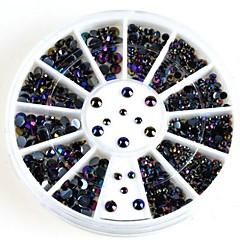 glitter ab musta akryyli strassit kynsikoristeet koristeet