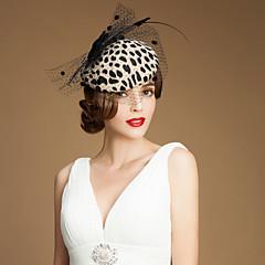 נשים נערת פרחים טול צמר כיסוי ראש-חתונה אירוע מיוחד קז'ואל חוץ קישוטי שיער כובעים