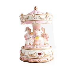 kreativní dárku přítomný princezna zamilovat holku music box hudební box pryskyřice karusel konstrukce