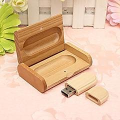 Nydelig Tre Modell USB 2.0-Minne Flash-Stasjon Penn DrivEuropeisk Disk Minnepinne 16Gb