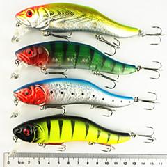 """8 Stück kleiner Fisch Angelköder kleiner Fisch g/Unze mm/4-3/4"""" Zoll,Fester Kunststoff Seefischerei Fischen im Süßwasser Spinnfischen"""
