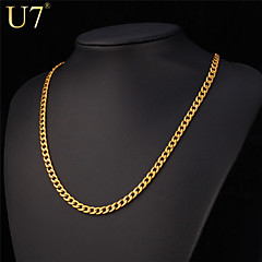Men's Women's Chain Necklaces Stainless Steel Silver Plated Gold Plated Fashion Costume Jewelry Hip-Hop Rock Jewelry For Special Occasion