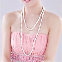 Halskjeder Tråder Halskjeder Perlehalskjede Smykker Bryllup Fest Daglig Avslappet Mote Perle Imitert Perle Dame 1 stk Gave Sølv