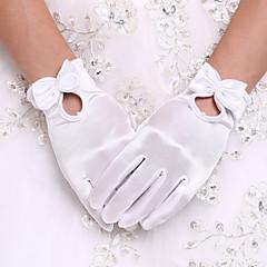 Rannepituus Kynsikkäät Glove Spandex Morsiuskäsineet Juhlakäsineet Kevät Kesä Syksy Talvi Helmet Rusetti