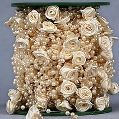 30 Meters 4mm Rose Flower Artificial Pearls Beads Chain Garland Flowers Wedding Party Decoration