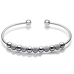 Women's Bangles Bracelet Basic Fashion Costume Jewelry Sterling Silver Circle Jewelry For Wedding Party Daily Casual Christmas Gifts