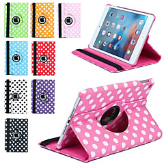 Luxury Print Polka Dot 360 Rotation PU Leather case for Apple iPad Mini 3/2/1 Tablet Smart Cover Flip Cases With Stand