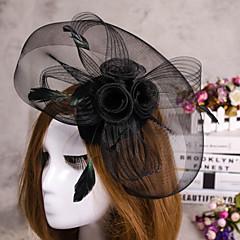 kukka sulka huntu fascinator hattu hiukset korut hääjuhlissa