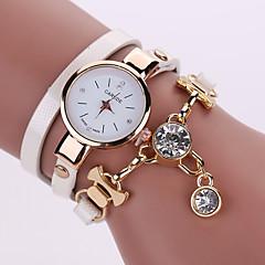 Mulheres Relógio de Moda Quartzo Relógio Casual Couro Banda Boêmio Preta Branco Azul Prata Vermelho Marrom Verde Rosa Roxa Bege Azul
