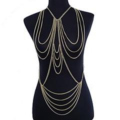 Žene Nakit za tijelo Nakit za trbuh Nosiljka ogrlica Tijelo Chain / Belly Chain Sexy Europska Crossover Više slojeva kostim nakit