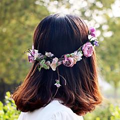 lilla vakker rose blomst kranser pannebånd for dame bryllupsfesten ferie hår smykker